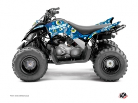 Yamaha 90 Raptor ATV Freegun Eyed Graphic Kit Blue