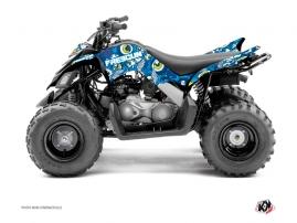 Kit Déco Quad Freegun Eyed Yamaha 90 Raptor Bleu