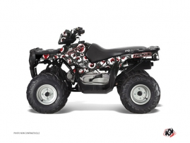 Polaris 90 Sportsman ATV Freegun Eyed Graphic Kit Grey Red