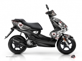Kit Déco Scooter Freegun Yamaha Aerox Gris Rouge