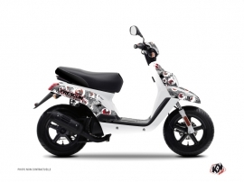 Kit Déco Scooter Freegun MBK Booster Gris Rouge