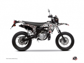 Yamaha DT 50 50cc Freegun Eyed Graphic Kit Grey Red