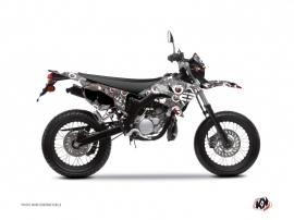 Kit Déco 50cc Freegun Eyed Yamaha DT 50 Gris Rouge