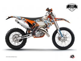 Kit Déco Moto Cross Freegun Eyed KTM EXC-EXCF Orange LIGHT
