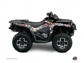 Can Am Outlander 1000 ATV Freegun Eyed Graphic Kit Grey Red