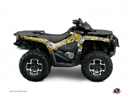 Kit Déco Quad Freegun Eyed Can Am Outlander 1000 Jaune