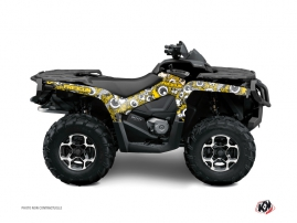 Can Am Outlander 400 MAX ATV Freegun Eyed Graphic Kit Yellow