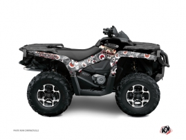 Can Am Outlander 500-650-800 MAX ATV Freegun Eyed Graphic Kit Grey Red