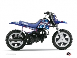 Kit Déco Moto Cross Freegun Eyed Yamaha PW 50 Rouge