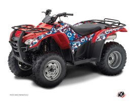 Honda Rancher 420 ATV Freegun Eyed Graphic Kit Red