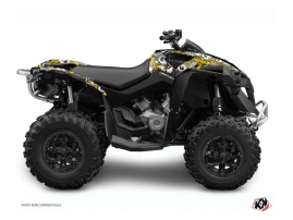 Can Am Renegade ATV Freegun Eyed Graphic Kit Yellow