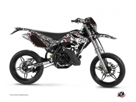 Kit Déco 50cc Freegun Eyed Beta RR 50 Motard Gris Rouge