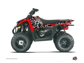 Kit Déco Quad Freegun Eyed Polaris Scrambler 500 Gris Rouge
