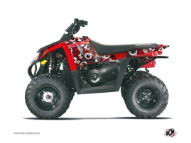 Kit Déco Quad Freegun Eyed Polaris Scrambler 500 Rouge Gris