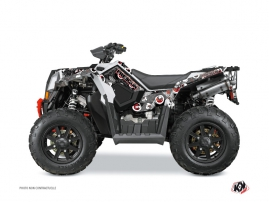 Kit Déco Quad Freegun Eyed Polaris Scrambler 850-1000 XP Gris Rouge