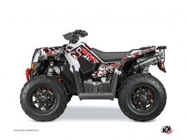 Kit Déco Quad Freegun Eyed Polaris Scrambler 850-1000 XP Rouge Gris