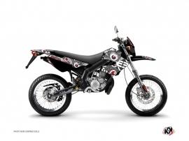 Kit Déco 50cc Freegun Eyed Derbi Xtreme / Xrace Gris Rouge