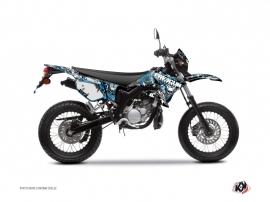 Kit Déco 50cc Freegun Firehead Yamaha DT 50 Bleu