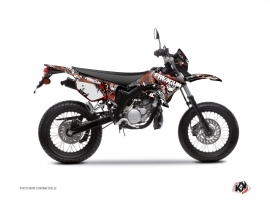 Kit Déco 50cc Freegun Firehead Yamaha DT 50 Rouge