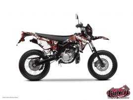 Kit Déco 50cc Freegun Firehead Yamaha DT 50 Rouge