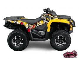 Can Am Outlander 1000 ATV Freegun Graphic Kit