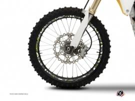 Kit Déco Tour de jantes Moto Cross Freegun Vert