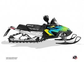 Kit Déco Motoneige Gage Arctic Cat CROSSFIRE / MSERIES Bleu Jaune