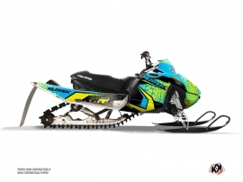 Polaris IQ RACER Snowmobile Gage Graphic Kit Blue Yellow