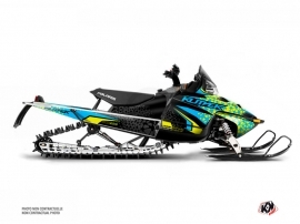 Polaris IQ RMK DRAGON Snowmobile Gage Graphic Kit Blue Yellow