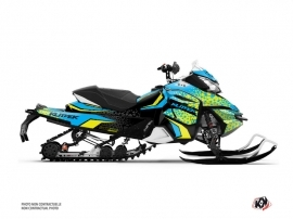 Skidoo REV XS Snowmobile Gage Graphic Kit Blue Yellow