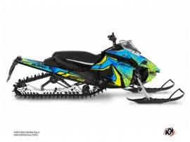 Yamaha Sidewinder Snowmobile Gage Graphic Kit Blue Yellow