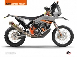 KTM 450 Rally Dirtbike Gear Graphic Kit Grey Orange