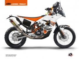 KTM 450 RFR Injection Street Bike Gear Graphic Kit White