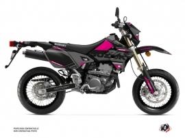 Suzuki DRZ 400 SM Dirt Bike Grade Graphic Kit Black Pink