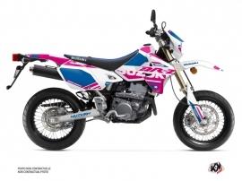 Suzuki DRZ 400 SM Dirt Bike Grade Graphic Kit Pink Blue
