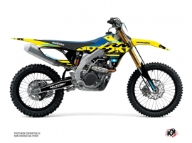 Suzuki 450 RMZ Dirt Bike Grade Graphic Kit Blue