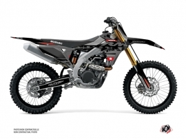 Suzuki 450 RMZ Dirt Bike Grade Graphic Kit Black