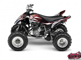 Yamaha 250 Raptor ATV Graff Graphic Kit Red