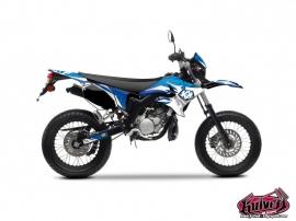 Kit Déco 50cc Graff Yamaha DT 50 Bleu Blanc
