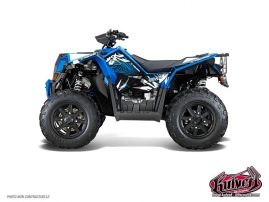 Kit Déco Quad Graff Polaris Scrambler 850-1000 XP Bleu FULL