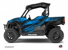 Polaris GENERAL 1000 UTV Graphite Graphic Kit Blue