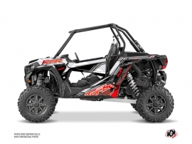 Polaris RZR 1000 Turbo UTV Graphite Graphic Kit Red White