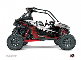 Polaris RZR RS1 UTV Graphite Graphic Kit White Red FULL
