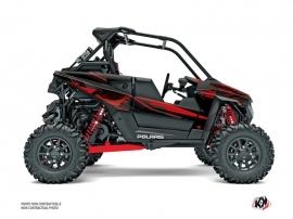 Polaris RZR RS1 UTV Graphite Graphic Kit Black Red
