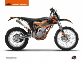 KTM 350 FREERIDE Dirt Bike Gravity Graphic Kit Orange