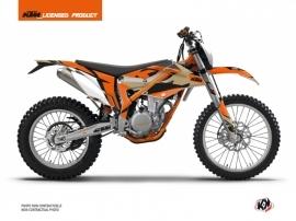 KTM 350 FREERIDE Dirt Bike Gravity Graphic Kit Orange Sand