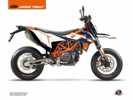 KTM 690 SMC R Street Bike Gravity Graphic Kit Blue