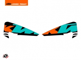 Kit Déco Stickers de protège mains Gravity Moto Cross KTM EXC-EXCF Vert