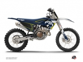 Husqvarna FC 250 Dirt Bike Halftone Graphic Kit White Blue