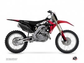 Honda 250 CRF Dirt Bike Halftone Graphic Kit Black Red